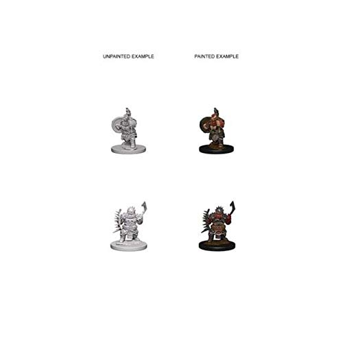 Pathfinder Roleplaying Game Unpainted Miniatures: Dwarf Male Barbarian