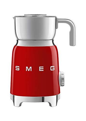 Smeg MFF01RDEU Espumador de leche, rojo