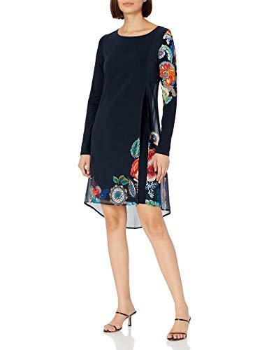 Desigual Womens Vest_Siena Casual Dress, Blue, XL