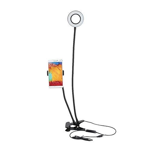 Selfie Ringlicht, Einrichtbar Fülllicht 12w langer Arm Selfie Universal-Halterung 24 LED Ringblitz Fülllicht Caster USB Clip Kamera-Handy-Halter-Licht in...