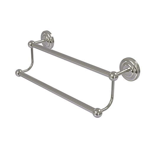 Allied Brass PQN-72/36-SN 36-Inch Double Towel Bar, Satin Nickel