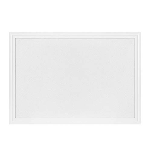 "White Cork Board with White Wood Frame, 30"" x 20"" 