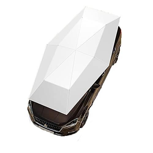 Rock88 Cubierta Automática para Exteriores Impermeable Parasol para Coche Tienda de Campaña Protección Anti-UV Tela Oxford a Prueba de Viento,Gray,4.2m