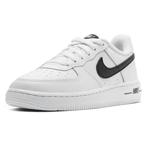 Nike Force 1 AN20 (PS), Scarpe da Basket Unisex-Bambini, White/Black, 34 EU