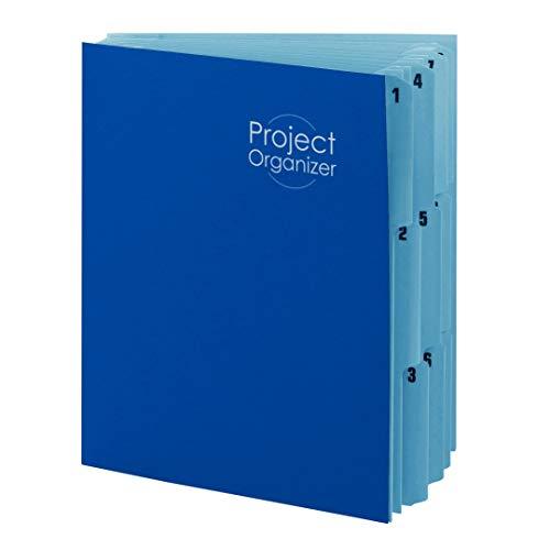 Smead 89200 Projekt-Organizer, 10 Taschen, Briefgröße, Marineblau/Seeblau