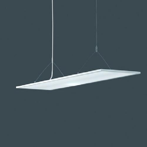 RZB Pendelleuchte, Aluminium, weiß, 119,5 x 29,5 x 150 cm