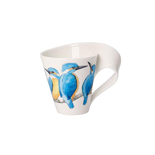 Villeroy & Boch NewWave Caffè Kaffeebecher (Geschenkkarton), Premium Porzellan, White,