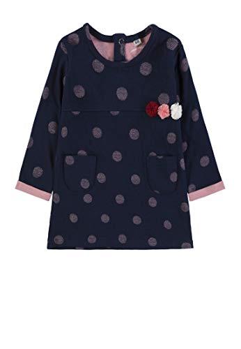 TOM TAILOR Dresses, Robe Bébé Fille, Bleu (Black Iris|Blue 3800), 3 Mois