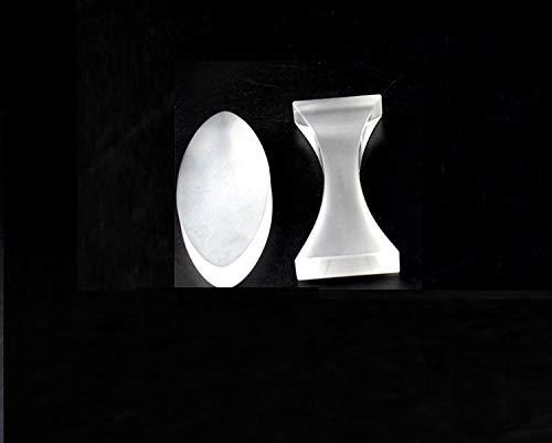 2 Piece Optical Glass Lens Concave Convex Set for Physics Teaching