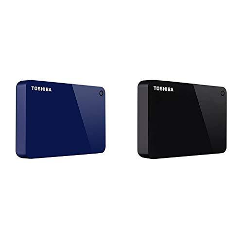 Toshiba Canvio Advance 4TB Portable External Hard Drive USB 3.0, Blue (HDTC940XL3CA) & Toshiba Canvio Advance 4TB Portable External Hard Drive USB 3.0, Black (HDTC940XK3CA)