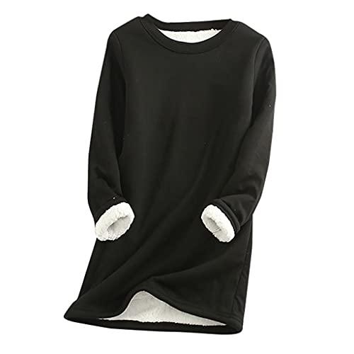 BIBOKAOKE Tshirt Damen Fleece Pullover...