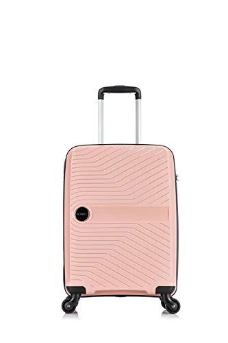 Flymax - Maletas grandes en 4 ruedas para equipaje ligero y rígido, resistente y duradero, combinación de 3 dígitos integrada Rosa rosa CABIN