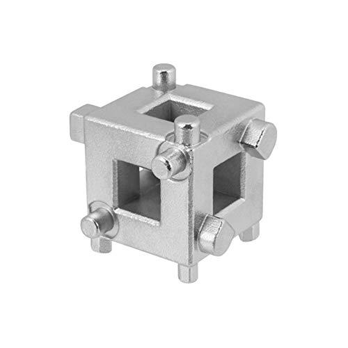 """Hinten Disc Bremssattel Kolben Rewind/Wind Zurück Cube Werkzeug 3/8"""" Drive Tool Fit for Fahrzeuge mit 4-Rad-Scheibenbremsen (Color : Silver)"""