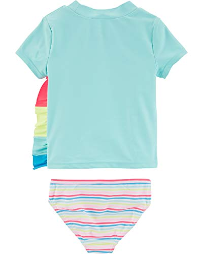 Carter's Girls' Rashguard Swim Set 7