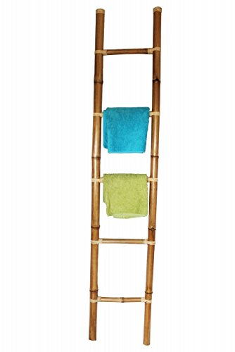 Color CO decorativa toallero, bambú escalera color 190 cm: Amazon.es: Hogar