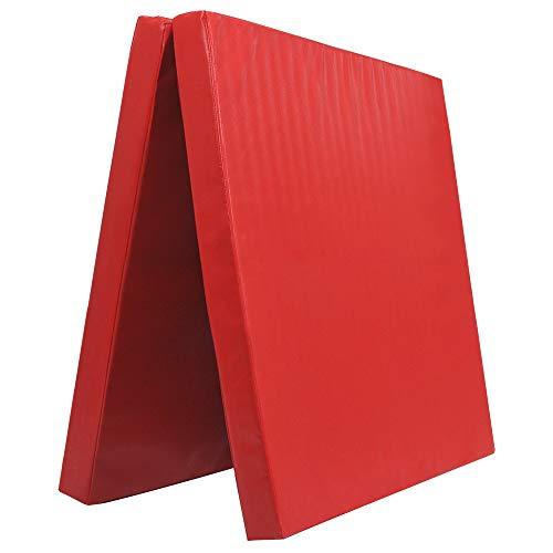 Klappbare Turnmatte - versch. Farben & Größen - Raumgewicht: 22 kg/m³ (200 x 100 x 6 cm, Rot)