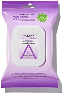 25-Count Almay Biodegradable Makeup Remover Wipes