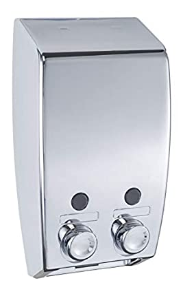 Wenko Varese Dispensador Jabón 0.45 L, Plateado, 8x13.5x25 cm, 2