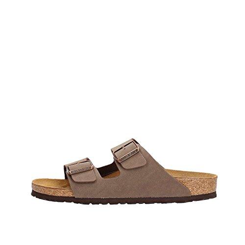 Birkenstock Schuhe Arizona Birko-Flor Nubuk Schmal Mocca (151183) 41 Braun