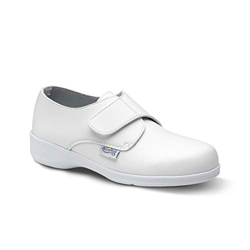 Feliz Caminar - Zapato Laboral Comodón Velcro Blanco, 41