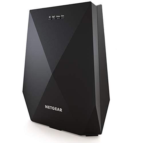 Netgear WLAN Mesh Repeater EX7700 WLAN Verstärker, AC2200 Tri Band WiFi, Abdeckung 4 bis 5 Räume und 40 Geräte, Geschwindigkeit bis zu 2200 MBit/s, smartes Mesh WLAN Roaming