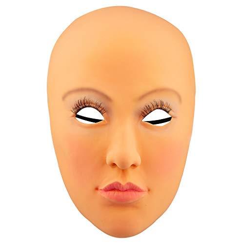 TwoCC Drohne Fernbedienung Spielzeugauto Flugzeuge,Latex Rubber Femeal Doll Kostüm Kopf Gesicht Hood Woman Lady Mask