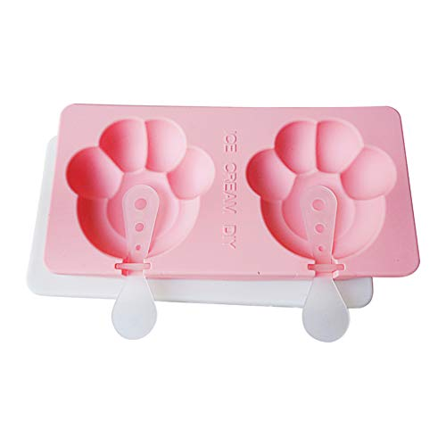 Popsicle Ice Cream Mold – Reusable Ice Cream DIY Pop Molds Holders with Tray & Sticks Popsicles Maker Fun for Kids and Adults for Party Summer (Footprint)