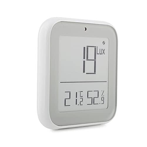 ZigBee Smart Brightness Termometro Sensibile in tempo reale alla luce e all'umidità Rilevatore di illuminazione Scenari App tuya Smart Home (1)