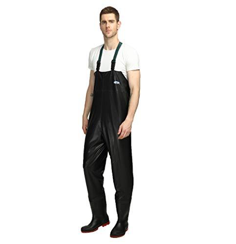 Vadeadores de Pesca PVC Impermeable Pantalones Ropa para Hombres Mujeres con Botas Transpirable Cómodo Bib Pantalones Pesca Equipo Esencial,42