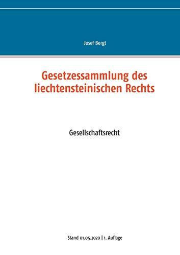 Gesetzessammlung des liechtensteinischen Rechts: Gesellschaftsrecht