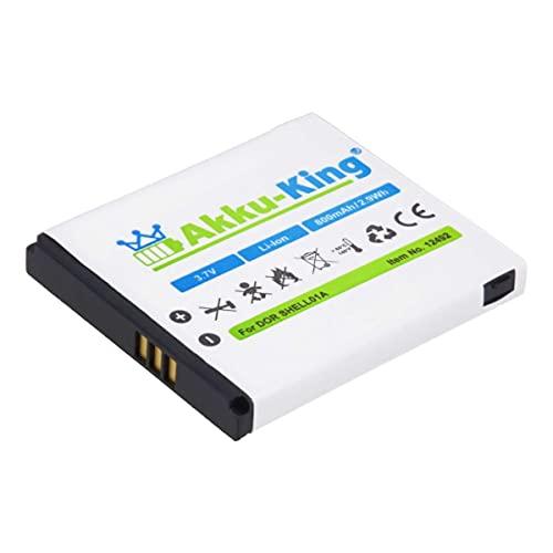 Akku-King Akku kompatibel mit Doro SHELL01A - Li-Ion 800mAh - für PhoneEasy 409, 409GSM, 410, 410GSM, 605, 605GSM, 610, 610GSM, 611, Care Clamshell