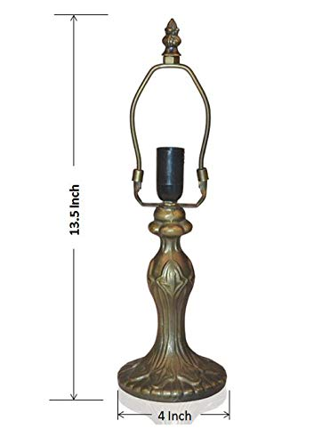 NOSHY Tiffany lamp Base Only, 4-Inch Diameter,13-1/2 Inch Height, Set 1