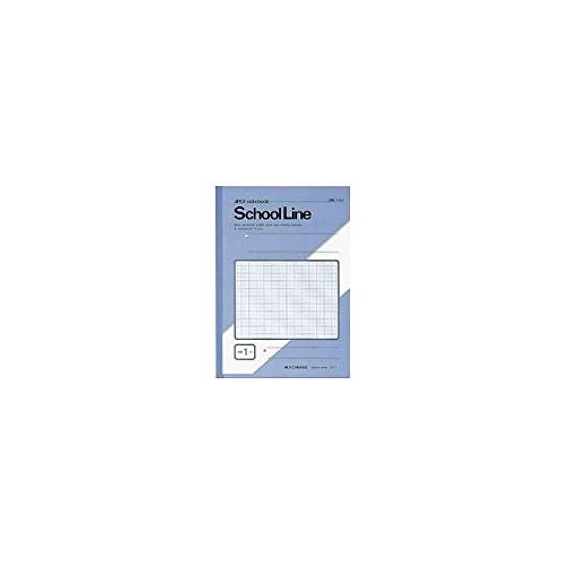 イルペインギリック割り当てますアピカ スクールライン 特殊罫ノート 学習帳 1ミリ方眼 10ミリ実線入 セミB5 アクア LS1 / 10セット