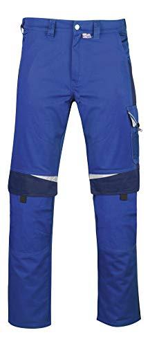 PKA Bundhose Bestwork, robuste Arbeitshose mit vielen Taschen(Kornblau/Marine, 52)