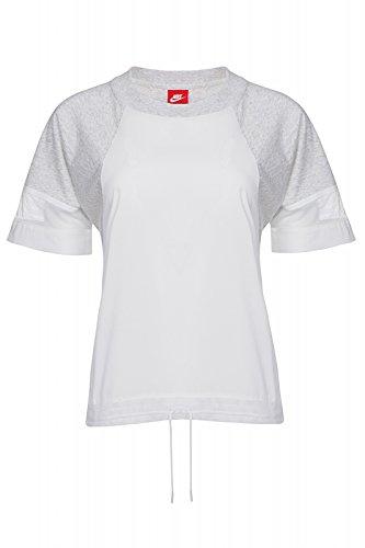 NIKE SS Bonded tee - Camiseta para Mujer, Color Verde/Blanco, Talla M
