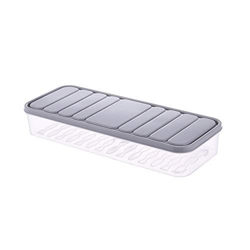HDJX Huishoudelijke koelkast opslagdoos Rechthoekige plastic verzegelde opslagdoos Gesealde voedselopslagdoos met deksel