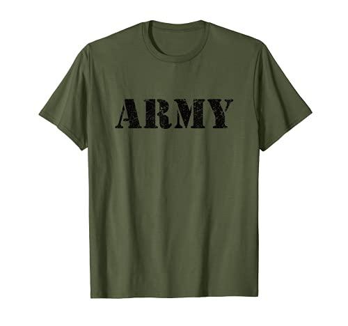 Army T-Shirt Verde   Disfraz Halloween de Soldado   Ejercito Camiseta