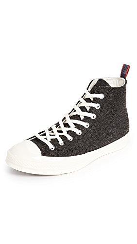 Converse Chuck Taylor '70s Heritage Herren Filz-Sneaker, Schwarz (Schwarz / Grün), 42 EU
