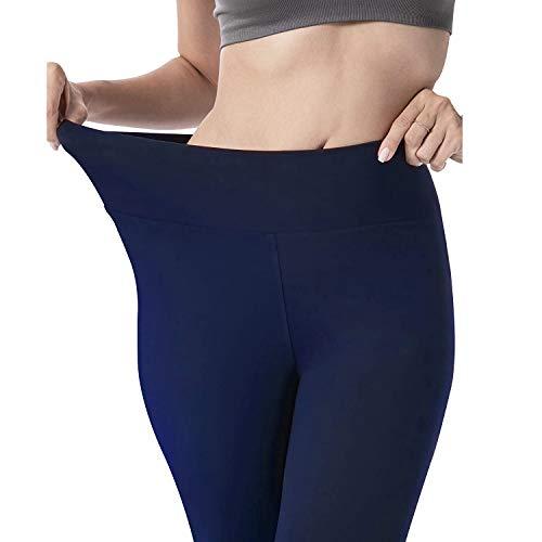 ACTINPUT Mallas de deporte de mujer, Leggins deportivos Yoga Cintura Alta, Ultra Suaves, Atléticos, Ajustados, Para Ejercicio, Para Yoga, Entrenamiento (01 Azul Marino, S-L)