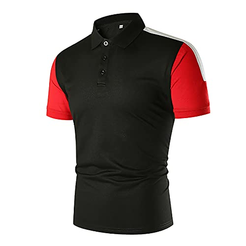 Nuevo 2021 Camiseta Hombre Verano Polo Patchwork Camiseta Deporte Manga corta Moda Negocio Diario Slim Fit Casuales T-shirt Blusas originales camisas algodón suave básica