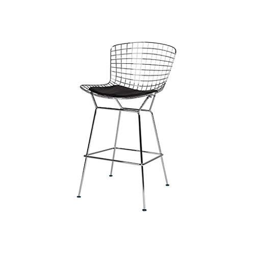 LICCC Barhocker Persönlichkeit Draht Bar Stuhl Cafe Restaurant Hohe Bank Kreative Bertoia Stuhl (Color : Silver)