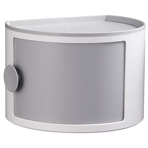 MICEROSHE Caja de Almacenamiento Cosmético Ligero Caja de Almacenamiento de cosmética de Pared sin Punch-Free Caja de Almacenamiento a Prueba de Agua para baño doméstico Diseño Duradero