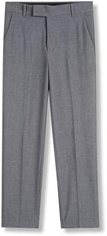 Calvin Klein Boys Little Bi Stretch Flat Front Dress Pant Grey Heather 6 product image