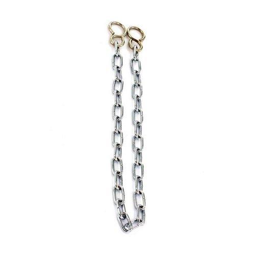 2xBath Chain Link Chrome 450mm