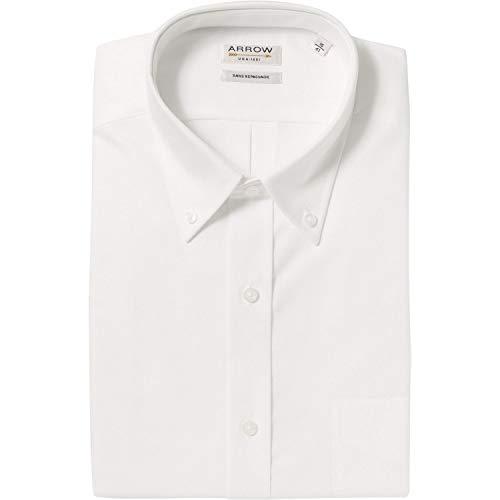 Arrow Hemd, komfortabel, Baumwolle, Oxford, Weiß Gr. Kragenweite: 41, weiß