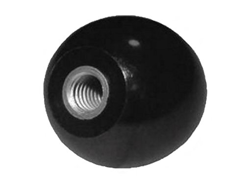 Bouton à rotule M 5 - Ø 20 mm - DIN 319 - Filetage acier - noir - QUANTITY au choix, lot:20 Stück