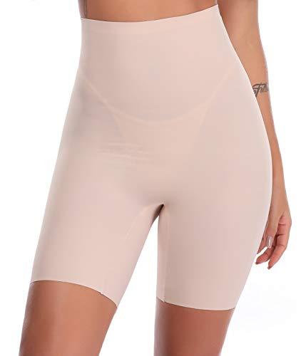 SLIMBELLE Donna Modellante Vita Alta Guaina Intimo Shapewear Mutande Contenitiva Slip Contenitive Pancia Pancera da Dimagrante Shaper Up Snellente-Beige-S