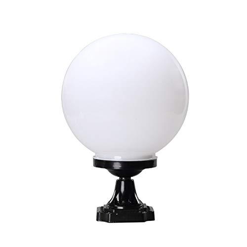 IP65 Waterproof Outdoor Garden Post Light Industrial Modern Column Lamp Spherical Globe Ball Pillar Lantern Community Patio Landscape Lighting E27 External Fence Deck Table Lamp