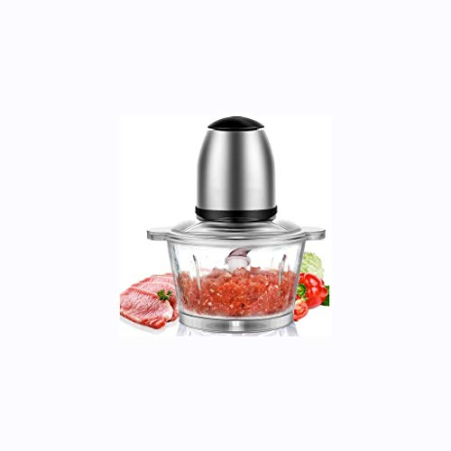 XLEVE Metal Meat Grinder-Mini Chopper Mini Food Processor Blades - Food Capacity Glass Bowl (Color : Glass Cup)