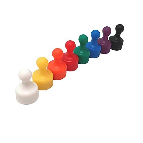 8Multicolor Muy Fuerte Neodimio Cono imanes Fridge Push Pins, diámetro 12mm, 19,5mm...